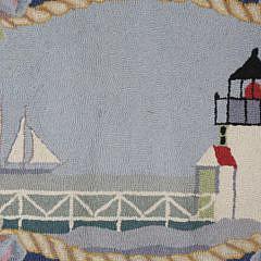 "Martin Imports Hooked Rug ""Nantucket Sound"""