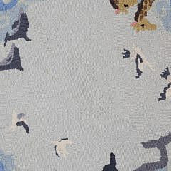 """Claire Murray Hooked Rug """"Animals"""""""