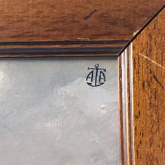 """Vintage Oil on Board Portrait of """"Leda II"""""""