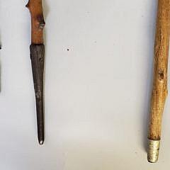 Group of Three 19th Century Sailor Made Walking Sticks