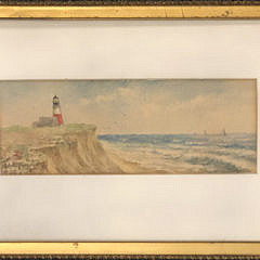 "Lillian Gertrude Smith Watercolor ""Sankaty Light"""