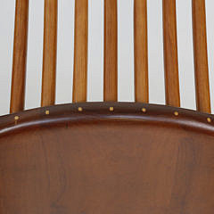 Set of 10 Stephen Swift Cherry and Ash High Back Armchairs