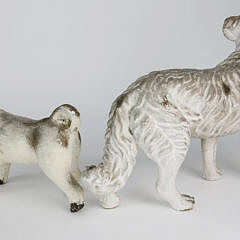 Two 1930s Chalkware Dogs