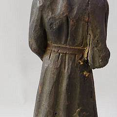 18th/17th Century Polychrome Carved Wood Figure of St. Adrien