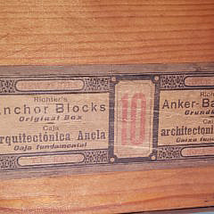 Antique Richter's Anchor Blocks Stone Building Boxes Set