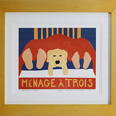 "2381-955 Stephen Huneck ""Menage 'A Trois"" A_MG_6573"