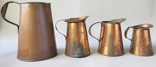 2390-955 Copper Pitchers A