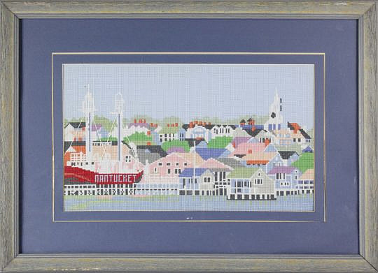 2391-955 Needlepoint View of the Town of Nantucket A_MG_7817