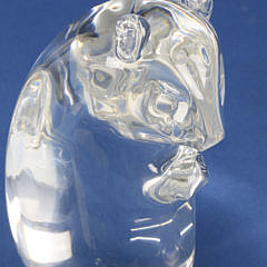 Signed Steuben Clear Crystal Hand Blown Ground Hog