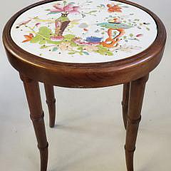 19th Century Imari Porcelain Drip Pan Side Table