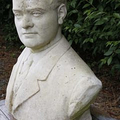 1920s Carved White Marble Bust of a Gentleman