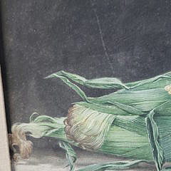 "Vintage Oil on Panel Still Life, ""Ears of Corn"", Signed Chamberlain"