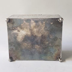 Rogers, Smith & Co Silver Plated Figural Decorated Cigar Box