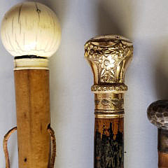 Collection of Three 19th Century Walking Sticks