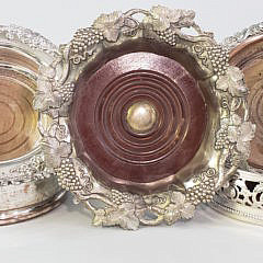 125-4800 Silver Plate Coasters A