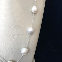 12mm-14mm White South Sea Baroque Pearl Necklace