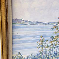 Henry Ives Cobb, Jr Gouache on Paper Seaside Shoreline Scene