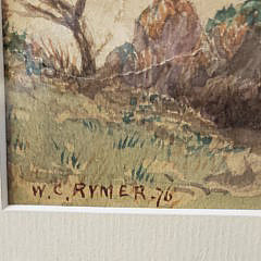 """William C. Rymer Watercolor on Paper, """"Lone Dory"""", 1876"""