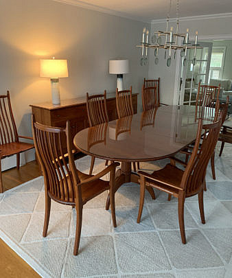 5-4930 Stephen Swift Cherry Spider Leg Dining Table A IMG_3793