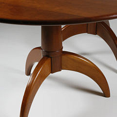 Stephen Swift Cherry Spider Leg Double Pedestal Dining Table