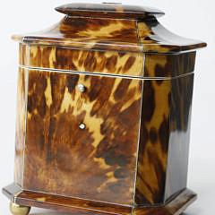 Diminutive English Single Compartment Tea Caddy, ca. 1800