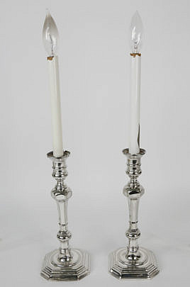567-1865 Chelsea House Silverplated Candlestick Lamps A_MG_7095