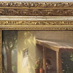 "Johann Friedrich Engel 19th Century Oil on Canvas ""The Suitor"""