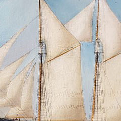 "Oil on Canvas Portrait of the Clipper Ship, ""Bushrod W. Hill"", 19th Century"