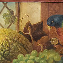 "Alexander Melville Jr. Oil on Canvas, ""Fruit Still Life"", circa 1872"