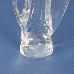 Signed Baccarat Clear Crystal Figural Archangel