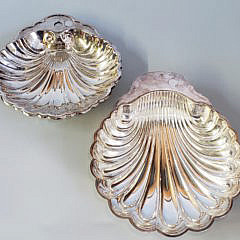 8-4447 Silver Plate Dishes A