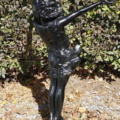 """The Good Fairy"" Painted Bronze Garden Sculpture"