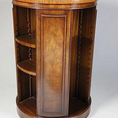 Yorkshire House, Inc. Mahogany Round Rotating Book Stand