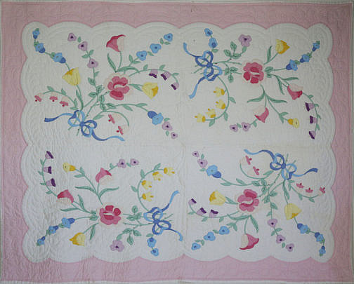 127-4803 American Floral Applique Quilt A_MG_6654