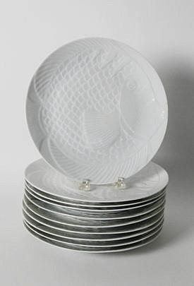 2389-955 10 Dansk White Fish Dinner Plates A_MG_6966