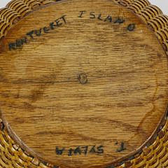 Terry Sylvia Round Open Swing Handle Nantucket Basket