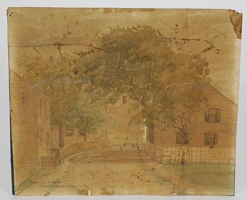 101 Amelia Ladd Nantucket Street Scene Watercolor A_MG_8318
