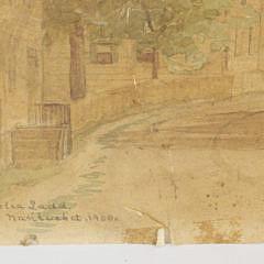 Amelia Ladd Nantucket Street Scene Watercolor, circa 1900