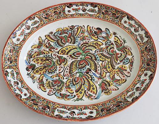101 Thousand Butterfly Platter A