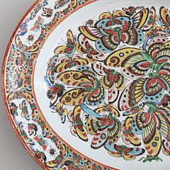Antique Chinese Thousand Butterfly Pattern Serving Platter
