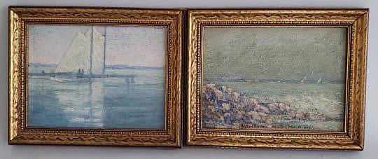 11-4912 Pair Buzzard Bay Paintings A