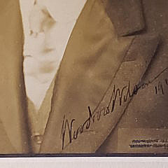 Antique Woodrow Wilson Signed Black and White Photograph, 1913