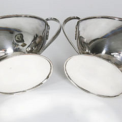 Pair of George III Old Sheffield Plate Covered Sauce Dishes, circa 1790
