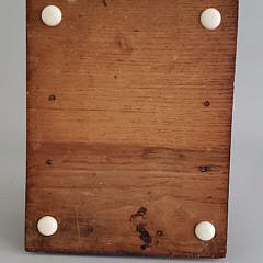Sailor Made Antique Whale Ivory, Whalebone, and Wood Sewing Box Spool Holder