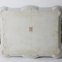 Contemporary Chinese Style Porcelain Tray on Stand