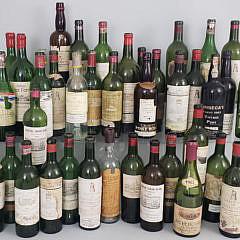 155-4820 40s 50s 60s Wine Bottles A