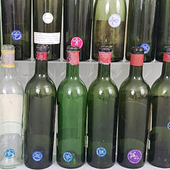 Collection of 41 Vintage 1940s, 1950s and 1960s Wine Bottles