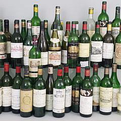 156-4820 70s 80s 90s Wine Bottles A