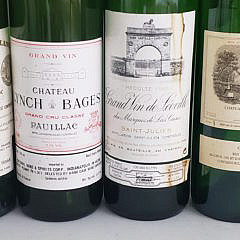 Collection of 43 Vintage 1970s, 1980s, 1990s and 2000s Wine Bottles
