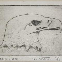 1582-54 Bald Eagle Lithograph A_MG_8498